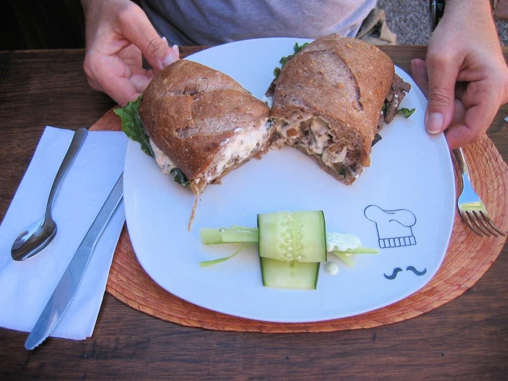 Lunch at Cafe de Lolita - Roast Beef Sandwich photo from Pat Reardon shot just before Barry devoured the sandwich.