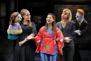 Broadway San Jose presents AVENUE Q National Tour 2009 Kate Monster, Jacqueline Grabois, Lisa Helmi Johanson, Kerri Brackin, Rod © John Daughtry 2009