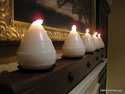 A Tuscan wine-country inspired candle holder to warm up any fireplace mantel.