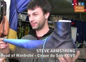 Steve Armstrong, Head of Wardrobe - Cirque du Soleil OVO