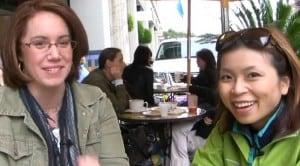 Dead Man Walking director Amanda Folena (L) with Loni Kao Stark (R)