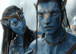 Avatar: Blue people, big eyes