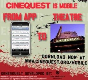 Cinequest 20 mobile app blackberry iphone