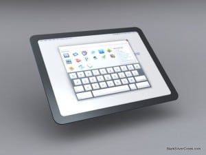 Google Tablet Chome OS UI concept