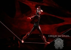 Cirque du Soleil OVO: a spider defies gravity and physics in a succession of seemingly impossible feats of strength and balance as he traverses a wire that appears to give him no support.