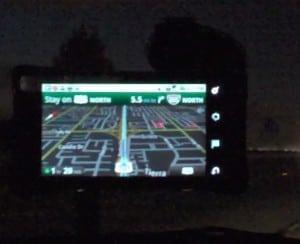 Night mode on Google Maps Navigation, Moto Droid