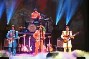 RAIN - A TRIBUTE TO THE BEATLES makes its South Bay debut at Broadway San Jose.  Left to Right: Joey Curatolo, Ralph Castelli, Joe Bithorn, Steve Landes  Photo credit: Joan Marcus