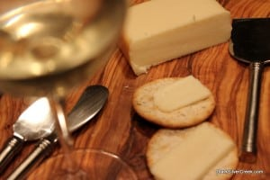 Smoked Fontina, Pepper Crackers and some Napa Chard
