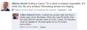 Cullen Hoback on T2i on Facebook