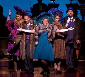 Aurelia Williams, Christopher L. Morgan, Angela Grovey, Rebecca Covington and Ken Robinson in San Jose Repertory Theatre's production of Ain't Misbehavin'. Photo: Tim Fuller