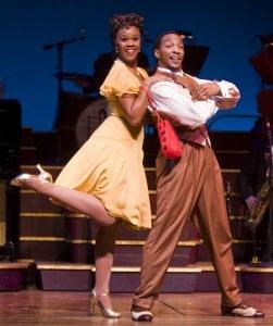 Rebecca Covington and Christopher L. Morgan in San Jose Repertory Theatre's production of Ain't Misbehavin'. Photo: Tim Fuller