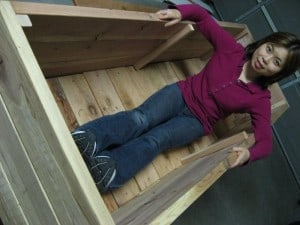 Loni tests her DIY vegetable planter box