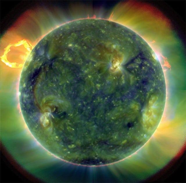 Astonishing image of the Sun taken by SDO. Credit: NASA/Goddard/SDO AIA Team.