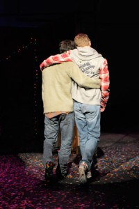 (l to r) Ryder Bach and Jason Hite star in the world premiere of Girlfriend, a new musical at Berkeley Rep wound around the tender love songs of Matthew Sweet's landmark album. Photo courtesy of kevinberne.com