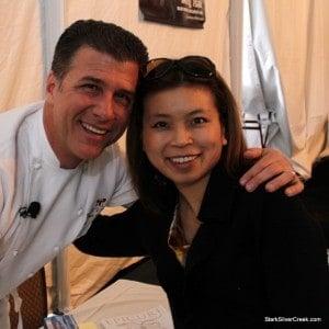 Michael Chiarello and Loni Kao Stark at Pebble Beach Food & Wine (no room for Clint)