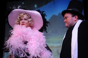 Judith Miller (left) and Colin Thomson (right) in Dirty Blonde at San Jose Stage Company, running through May 2. Photo by Dave Lepori.