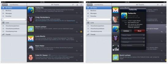 Twitterific iPad