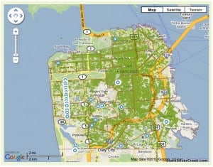 Urban Forest Map San Francisco