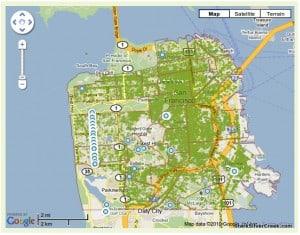 Urban Forest Map San Francisco
