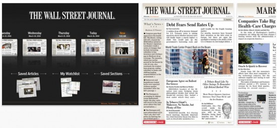 Wall Street Journal on iPad