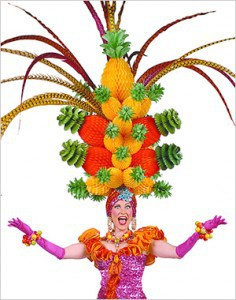 Beach Blanket Babylon: Think you've seen the largest pineapple hat, think again.