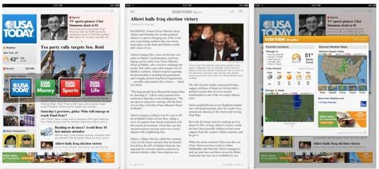USA Today on iPad