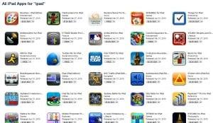 Over 1,800 iPad apps already on iTunes