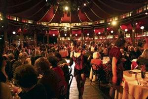 Teatro ZinZanni is uniquely staged in a luxurious European Spiegeltent.