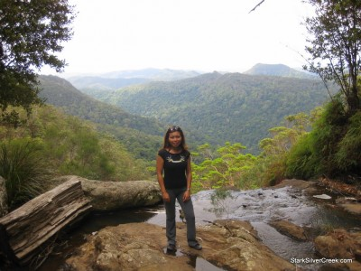 Standing at the edge overlooking a spectacular view of Springbrook National Park.