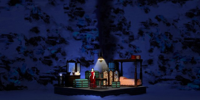 Act II set model Set design by Maurizio Balò
