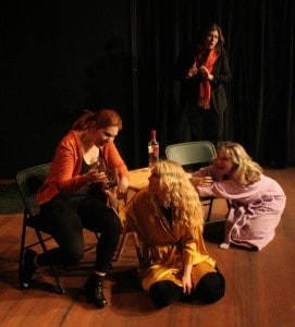 Jennifer Jane Parsons as Casey, Kristen Lo as Holly, Meredith Hagedorn* as Lisabette, & Vera Sloan as Kate (Member of Actors' Equity). Photographer: James Kasyan.