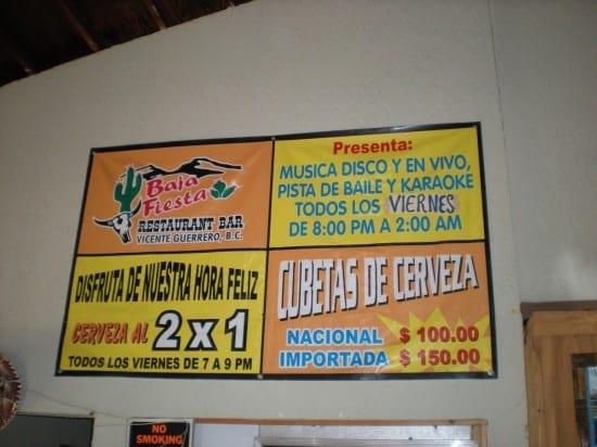 Baja Fiesta Restaurant, Vicente Guerrero