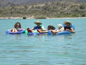 We Held On To Each Other's Rafts And Floated With The Current. Charlie Joined Us