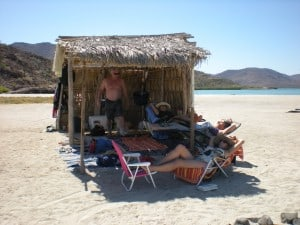 Relaxing In The Palapa