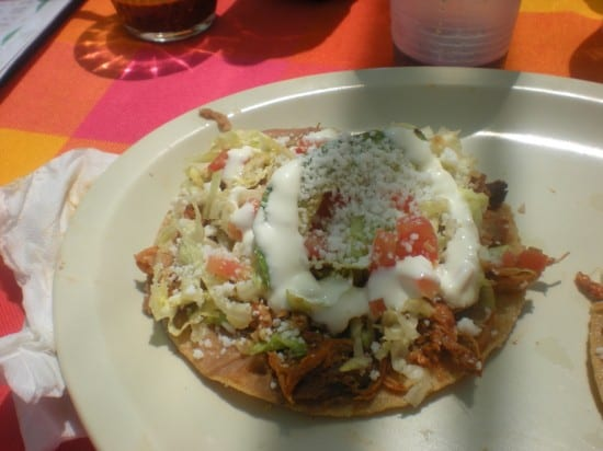 Chicken Tostada at Capital Restaurant