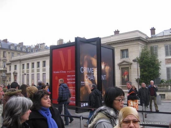 The poster for the special exhibit on Crime and Punishment at the museum when I visited. Unlike the Louvre, this art gallery does not allow the taking of photographs.