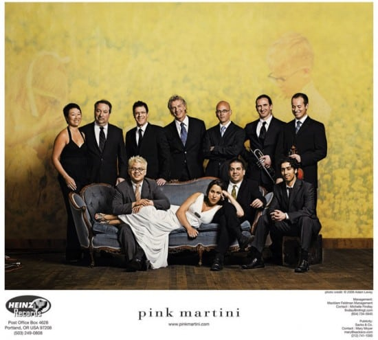 Pink Martini. Photo credit: Adam Levey.