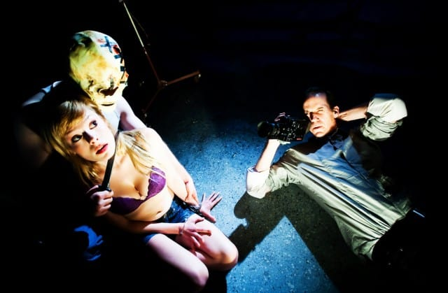 Tonya Glanz, Cole Alexander Smith, Robert Parsons in Slasher. Photos by Jessica Palopoli