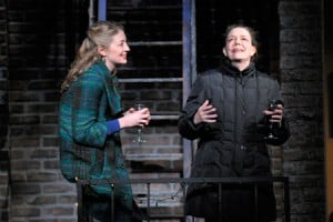 At Berkeley Rep, Heidi Schreck and Deirdre O'Connell (right) star in the world-premiere production of In the Wake, from the creators of Broadway's Well. Photo courtesy of kevinberne.com.