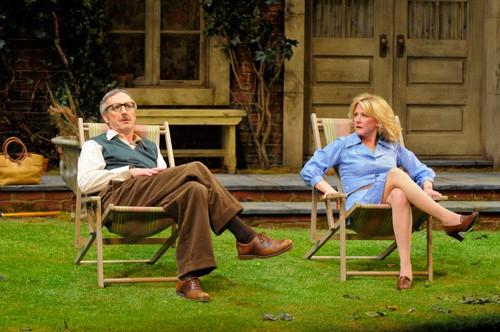 Ruth (René Augesen) can't believe how clueless Tom (Dan Hiatt) is. Photo by Kevin Berne.