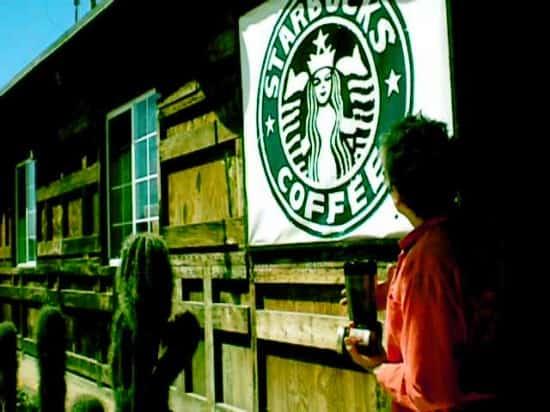 Sharon at Baja Fiesta Starbucks Sign