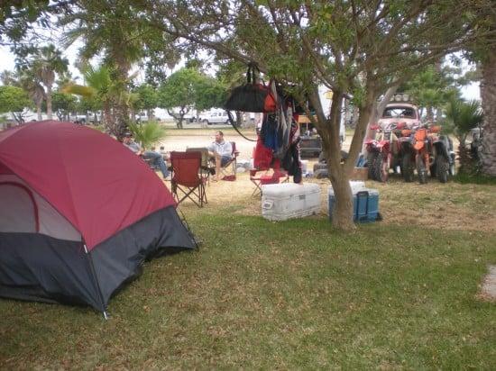 Campsite for the Afraidium Racing Team