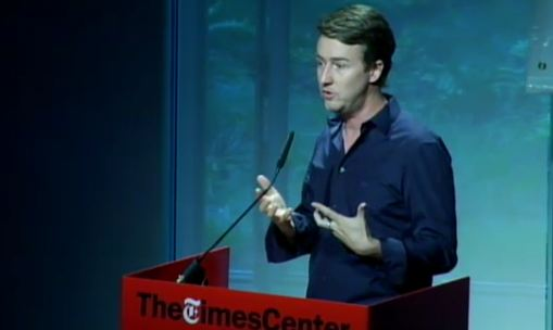Ed Norton: On Web 2.0 philanthropic mission