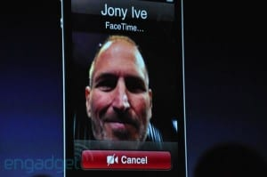 FaceTime enables real-time video chat (on wi-fi only in 2010). Image: Engadget.