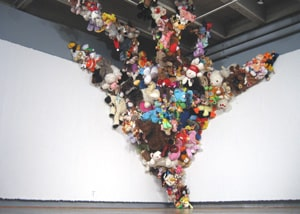 ICA: Jim Edgeworth, The Seeds of Wonder, 2009, stuffed animals and mixed media, Courtesy of the Artist