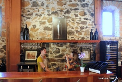 The tasting room at Ehlers Estate in Napa just a few miles north of St. Helena.