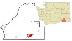 Map of Walla Walla, Washington