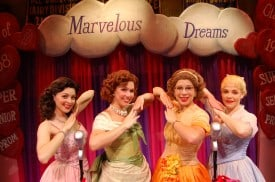 (l to r) Cindy Lou (Christina DeCicco), Betty Jean (Holly Davis), Missy (Lowe Taylor) and Suzy (Bets Malone) are The Marvelous Wonderettes