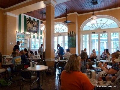 Indoors is also full of charm at Cafe du Monde.