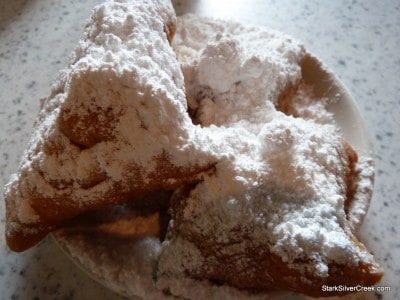 Cafe du Monde Beignets. One order comes with 3 Beignets and equal part powder sugar.